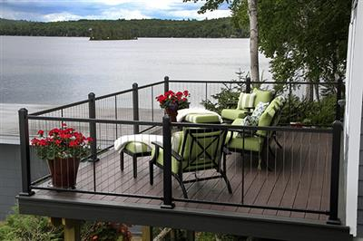 Decking railing american lumber for Fortress fence design