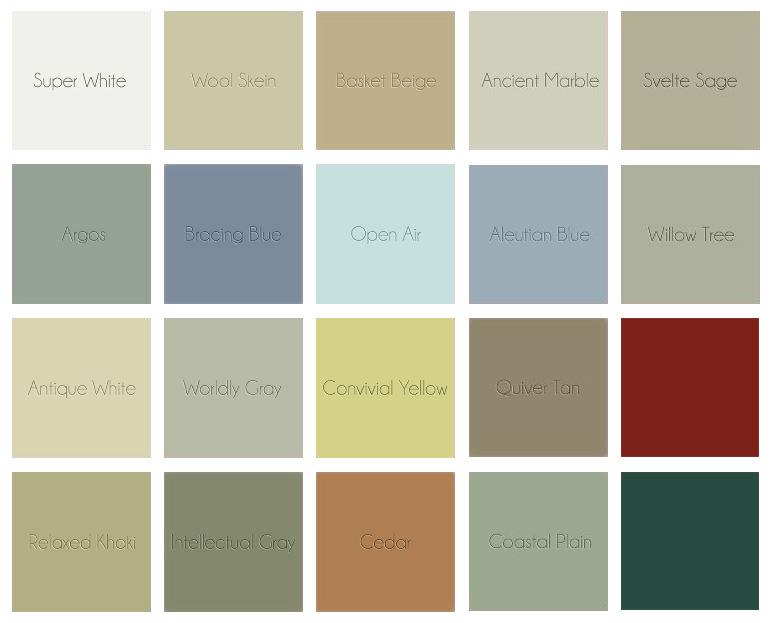 We Offer 20 Standard Colors, ...