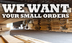 We want your small orders